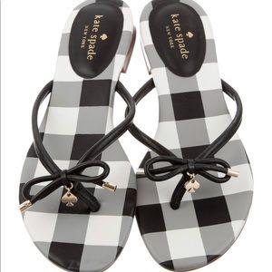 NWOT Kate Spade| leather printed sandals
